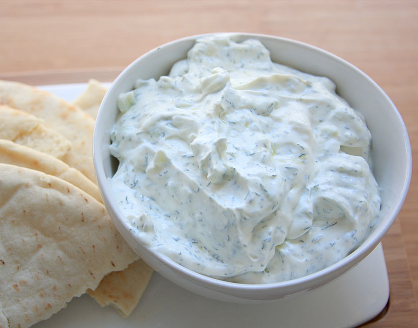 Greek Tzatziki Sauce and Peta Bread Recipe