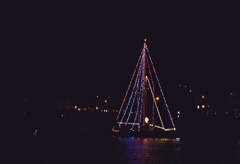 Holiday Lighted Boat Parade - Mystic Connecticut