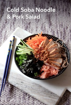 Cold Soba Noodle and Pork Salad