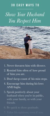 30 ways to respect your husband