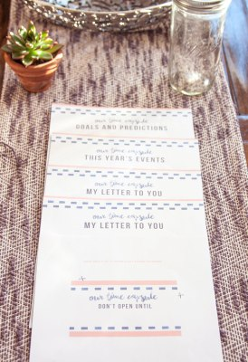 DIY date night ideas: Time capsule with questions and free PDF templates