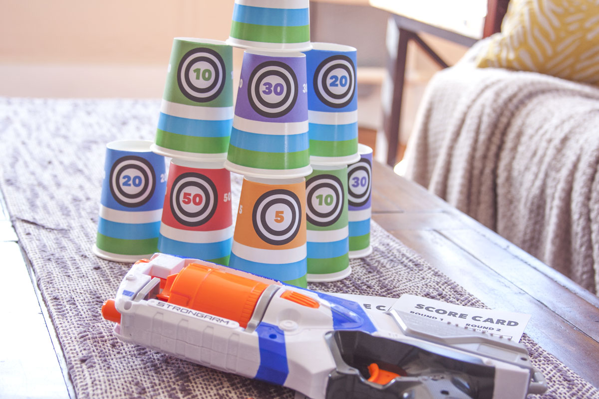 picture relating to Nerf Targets Printable identify Pleasurable and Frugal Day Night time Thought: Do it yourself Nerf Gun Activity